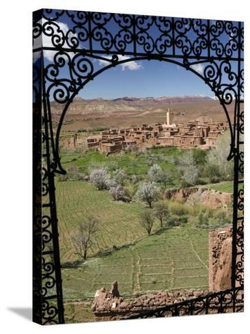 Telouet Village, Ruins of the Glaoui Kasbah, Tizi-N-Tichka Pass Road-Walter Bibikow-Stretched Canvas Print