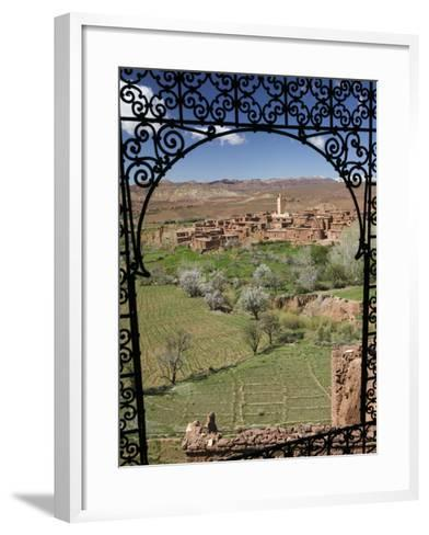 Telouet Village, Ruins of the Glaoui Kasbah, Tizi-N-Tichka Pass Road-Walter Bibikow-Framed Art Print
