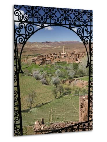Telouet Village, Ruins of the Glaoui Kasbah, Tizi-N-Tichka Pass Road-Walter Bibikow-Metal Print