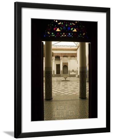 Interior Courtyard, Musee De Marrakech, Marrakech, Morocco-Walter Bibikow-Framed Art Print