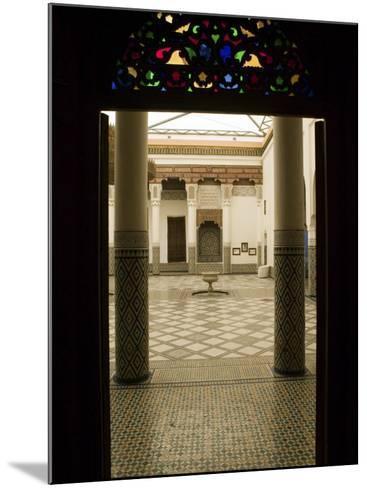 Interior Courtyard, Musee De Marrakech, Marrakech, Morocco-Walter Bibikow-Mounted Photographic Print