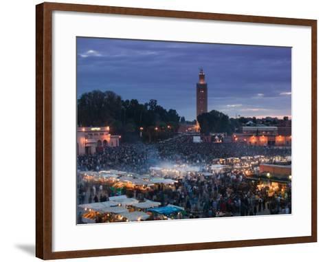 Koutoubia Mosque, Djemma El-Fna Square, Marrakech, Morocco-Walter Bibikow-Framed Art Print