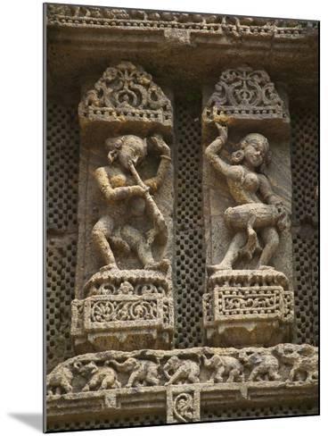 Details of Bas Relief of Orissa Dancers at Sun Temple, Konark, Orissa, India-Keren Su-Mounted Photographic Print