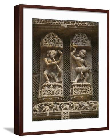 Details of Bas Relief of Orissa Dancers at Sun Temple, Konark, Orissa, India-Keren Su-Framed Art Print