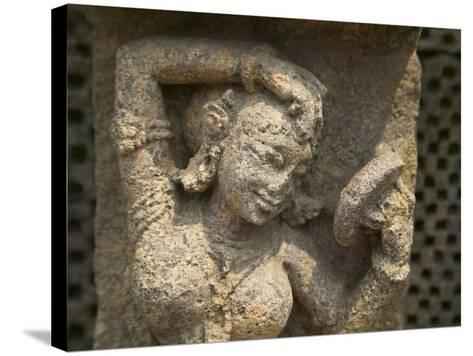 Details of Bas Relief of Orissa Dancers at Sun Temple, Konark, Orissa, India-Keren Su-Stretched Canvas Print