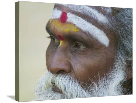 Portrait of a Holy Man, Varanasi, India-Keren Su-Stretched Canvas Print