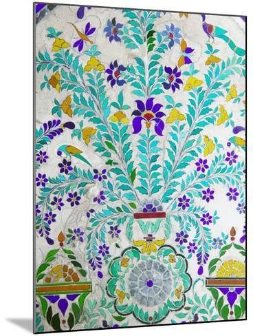 Decorated Tile Painting at City Palace, Udaipur, Rajasthan, India-Keren Su-Mounted Photographic Print