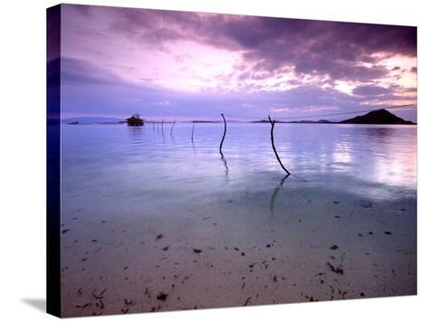 Electricity Cable Supplying Stilt House off Remote Island, Lesser Sunda Archipelago, Indonesia-Jay Sturdevant-Stretched Canvas Print