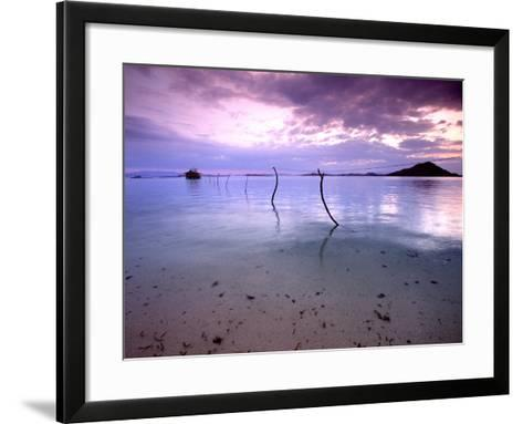 Electricity Cable Supplying Stilt House off Remote Island, Lesser Sunda Archipelago, Indonesia-Jay Sturdevant-Framed Art Print