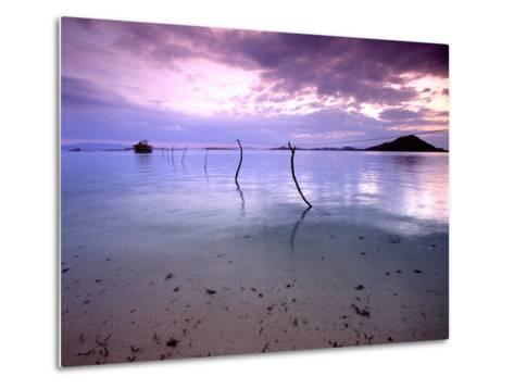 Electricity Cable Supplying Stilt House off Remote Island, Lesser Sunda Archipelago, Indonesia-Jay Sturdevant-Metal Print