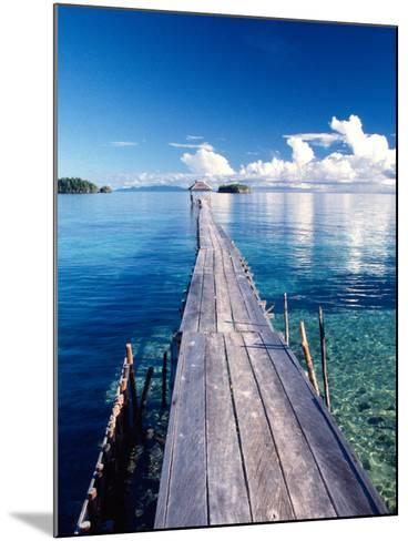 Wooden Jetty Extending off Kadidiri Island, Togian Islands, Sulawesi-Jay Sturdevant-Mounted Photographic Print