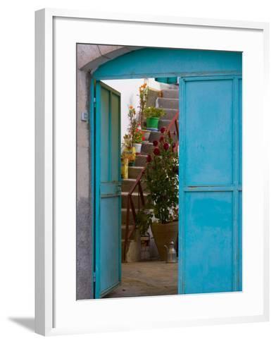 Doorway in Small Village, Cappadoccia, Turkey-Darrell Gulin-Framed Art Print