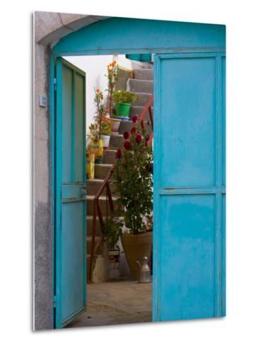 Doorway in Small Village, Cappadoccia, Turkey-Darrell Gulin-Metal Print