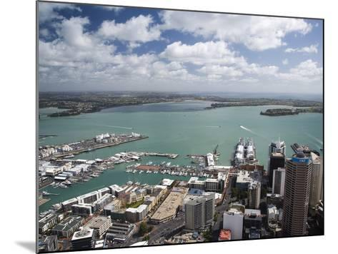 View of Waitemata Harbor from Skytower, Auckland, North Island, New Zealand-David Wall-Mounted Photographic Print