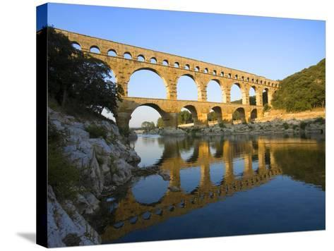 The Pont du Gard Roman Aquaduct Over the Gard River, Avignon, France-Jim Zuckerman-Stretched Canvas Print