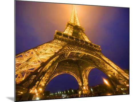 Base of Eiffel Tower at Night, Paris, France-Jim Zuckerman-Mounted Photographic Print