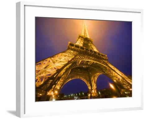 Base of Eiffel Tower at Night, Paris, France-Jim Zuckerman-Framed Art Print