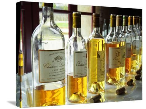 Sauternes Wines at Union Des Grand Crus Tasting, Domaine De Chevalier in Graves, Bordeaux, France-Per Karlsson-Stretched Canvas Print