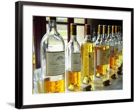 Sauternes Wines at Union Des Grand Crus Tasting, Domaine De Chevalier in Graves, Bordeaux, France-Per Karlsson-Framed Art Print