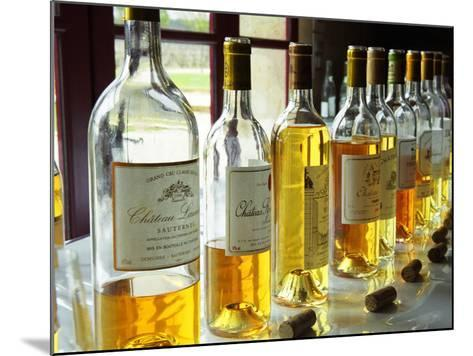 Sauternes Wines at Union Des Grand Crus Tasting, Domaine De Chevalier in Graves, Bordeaux, France-Per Karlsson-Mounted Photographic Print