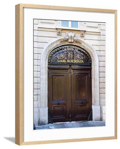 Entrance to Champagne Louis Roederer, Reims, Champagne, Marne, Ardennes, France-Per Karlsson-Framed Art Print