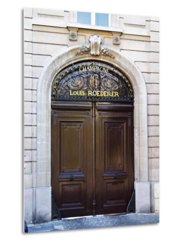 Entrance to Champagne Louis Roederer, Reims, Champagne, Marne, Ardennes, France-Per Karlsson-Metal Print