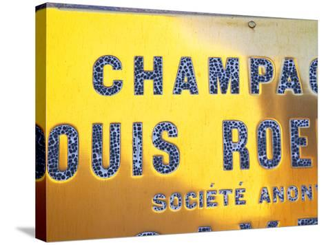 Polished Brass Sign at Winery of Louis Roederer, Reims, Champagne, Marne, Ardennes, France-Per Karlsson-Stretched Canvas Print