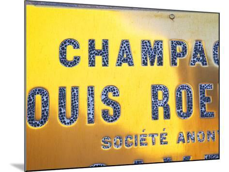 Polished Brass Sign at Winery of Louis Roederer, Reims, Champagne, Marne, Ardennes, France-Per Karlsson-Mounted Photographic Print