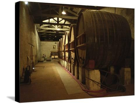 Fermentation Vats in Winery, Domaine Saint Martin De La Garrigue, Montagnac-Per Karlsson-Stretched Canvas Print