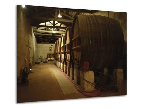 Fermentation Vats in Winery, Domaine Saint Martin De La Garrigue, Montagnac-Per Karlsson-Metal Print