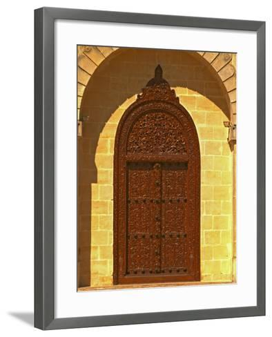 Entrance to Winery at Cos d'Estournel, Oriental Style, Saint St. Estephe, Medoc, Bordeaux, France-Per Karlsson-Framed Art Print