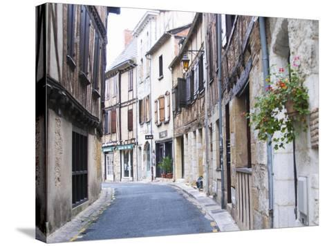 Old Town with Stone and Wooden Beam Houses, Bergerac, Dordogne, France-Per Karlsson-Stretched Canvas Print