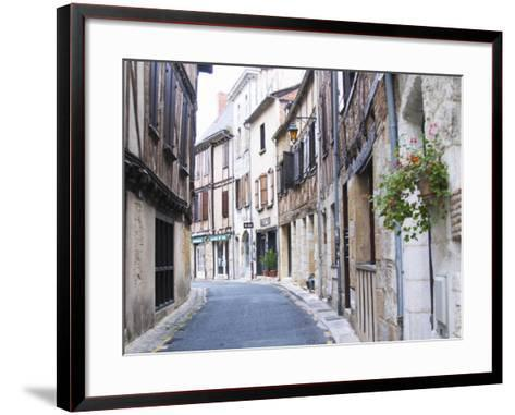 Old Town with Stone and Wooden Beam Houses, Bergerac, Dordogne, France-Per Karlsson-Framed Art Print