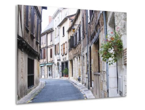 Old Town with Stone and Wooden Beam Houses, Bergerac, Dordogne, France-Per Karlsson-Metal Print