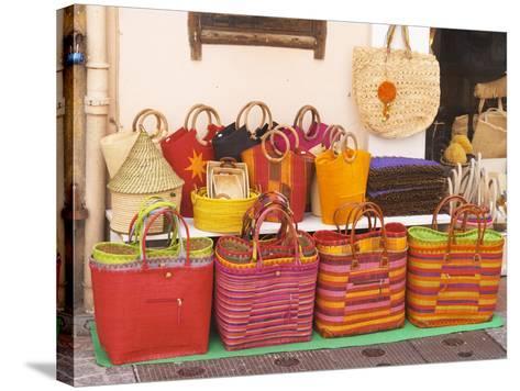 Market Stalls, Sanary, Var, Cote d'Azur, France-Per Karlsson-Stretched Canvas Print