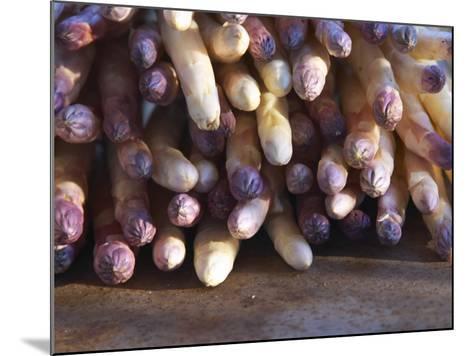 Pile of White Asparagus, Clos Des Iles, Le Brusc, Cote d'Azur, Var, France-Per Karlsson-Mounted Photographic Print