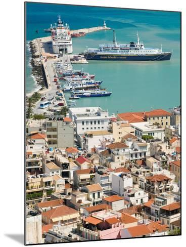 Town and Port, Zakynthos, Ionian Islands, Greece-Walter Bibikow-Mounted Photographic Print