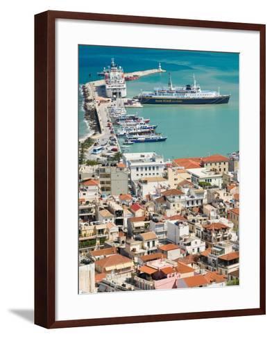 Town and Port, Zakynthos, Ionian Islands, Greece-Walter Bibikow-Framed Art Print