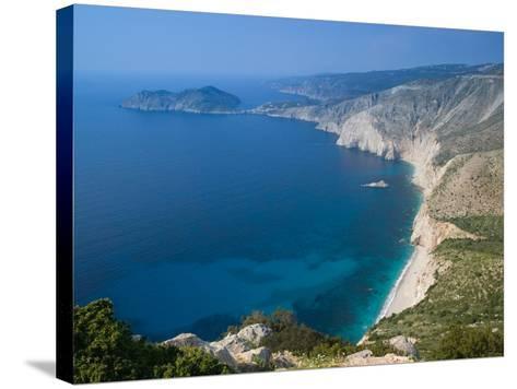 Coastline View, Assos, Kefalonia, Ionian Islands, Greece-Walter Bibikow-Stretched Canvas Print