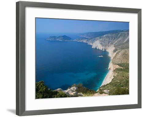 Coastline View, Assos, Kefalonia, Ionian Islands, Greece-Walter Bibikow-Framed Art Print
