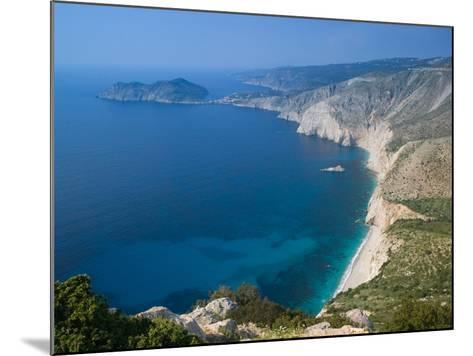 Coastline View, Assos, Kefalonia, Ionian Islands, Greece-Walter Bibikow-Mounted Photographic Print