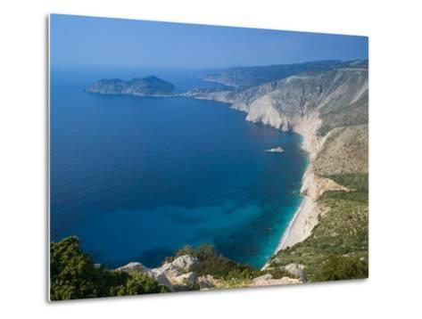 Coastline View, Assos, Kefalonia, Ionian Islands, Greece-Walter Bibikow-Metal Print