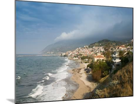 South Lesvos Resort Town, Plomari, Lesvos, Mithymna, Aegean Islands, Greece-Walter Bibikow-Mounted Photographic Print