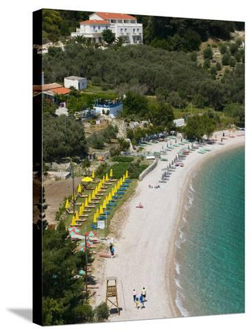 Tsamadou Beach, Kokkari, Samos, Aegean Islands, Greece-Walter Bibikow-Stretched Canvas Print
