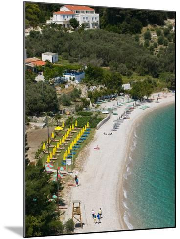 Tsamadou Beach, Kokkari, Samos, Aegean Islands, Greece-Walter Bibikow-Mounted Photographic Print