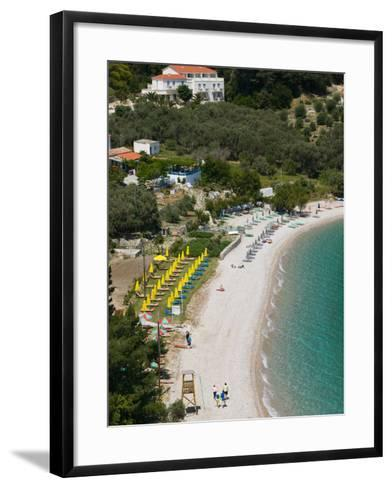 Tsamadou Beach, Kokkari, Samos, Aegean Islands, Greece-Walter Bibikow-Framed Art Print