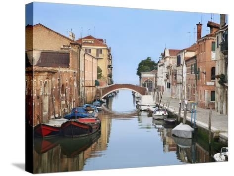 View Along City Canals, Venice, Italy-Dennis Flaherty-Stretched Canvas Print