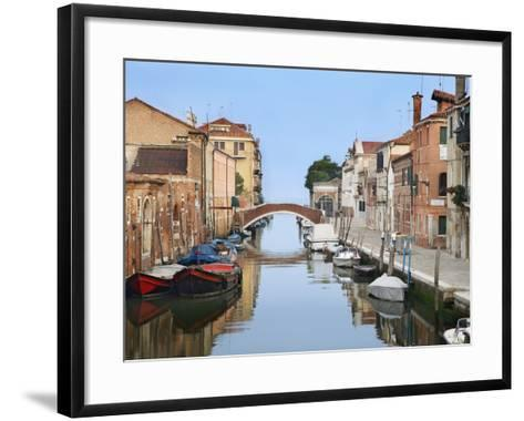 View Along City Canals, Venice, Italy-Dennis Flaherty-Framed Art Print