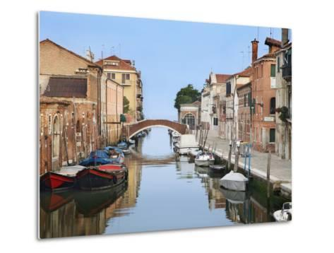 View Along City Canals, Venice, Italy-Dennis Flaherty-Metal Print