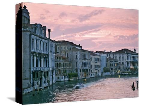 Grand Canal at Dusk from Academia Bridge, Venice, Italy-Dennis Flaherty-Stretched Canvas Print